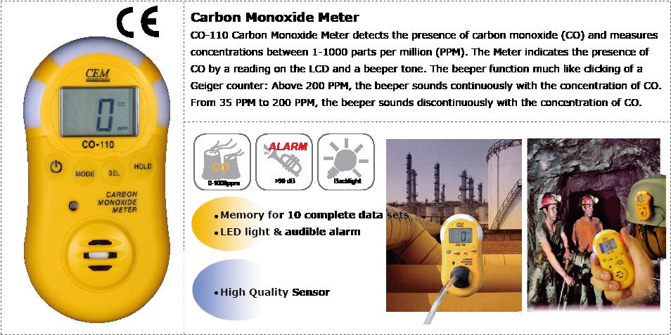 cem-co-110-carbon-monoxide-meter-applications